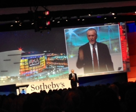Key note speaker Pat Riley of the Miami Heat addresses the global network of Sotheby's International Realty #GNE2014 #Fontainebleau #Miami